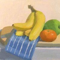 Bananas and Blue Napkin