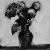 072910 vase; graphite on mylar