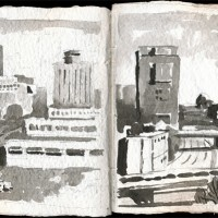 Boston, 03.17.13 — 8 x 16 in, sumi ink, 2013