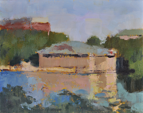Boathouse — 11×14 in (28 x 36 cm), oil on canvas, 2012