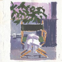 Chair & Shirt, 01.11.13 — 8x8 in, gouache, 2013