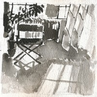 Windows, right, 03.21.13 — 8 x 8 in, sumi ink, 2013