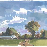 Concord, 10.07.10 — 7 x 10 in (18 x 25 cm), gouache, 2010