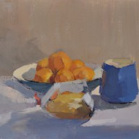 Bread & Clementines oil on linen, 8x10 in, 2014SOLD
