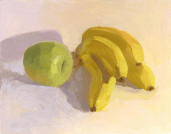 021509 Green Apple & Banana