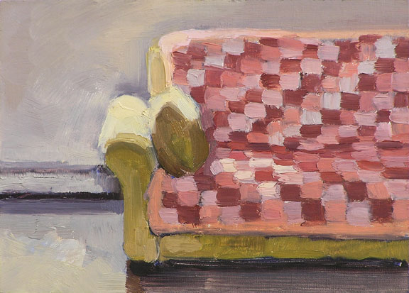 couch, oil painting