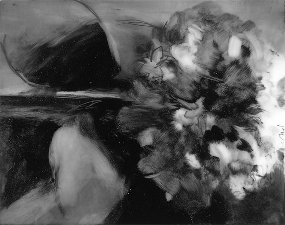 072710 hydrangea; graphite and mylar