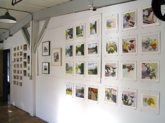 full wall, Holliston open studio; photo