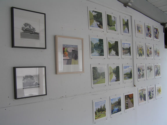 display wall, Holliston Open Studios