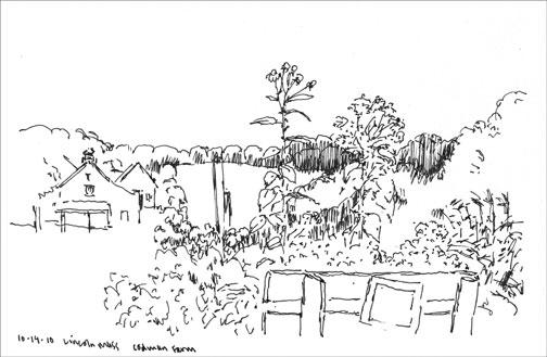codman farm; ink on paper
