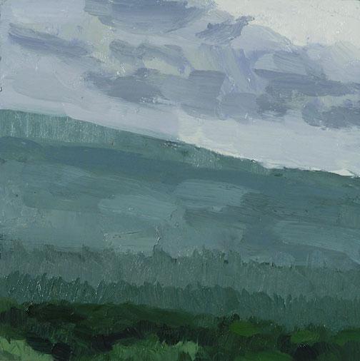 vermont ridge; oil on linen mounted panel