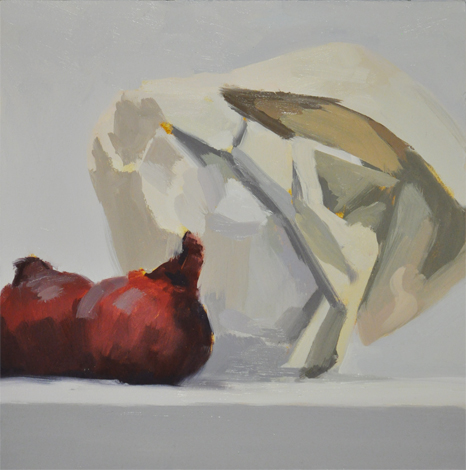 Wrapped pitcher — oil on wood panel, 10 x 10 in (25 x 25 cm), 2010, SOLD