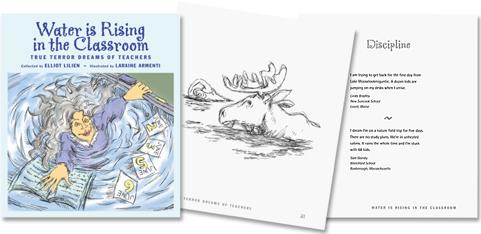 book spread; cover and two pages