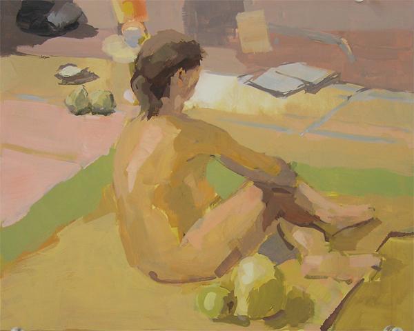 figure in studio