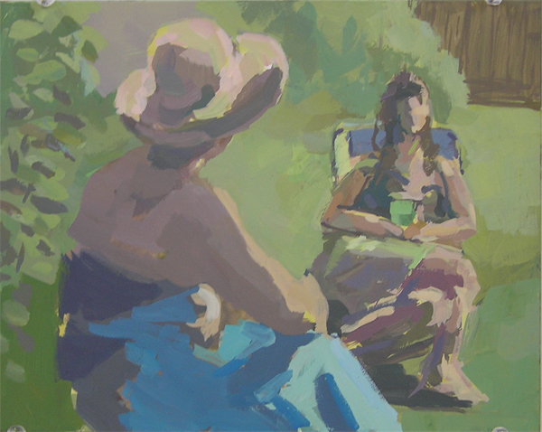 Conversation in landscape