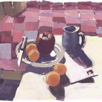 Quilt, 06.03.10 — 7 x 9.5 in (18 x 24 cm), gouache, 2010