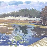 Broadmoor, 10.28.10 — 7″ x 10″ (18 x 25 cm), gouache, 2010